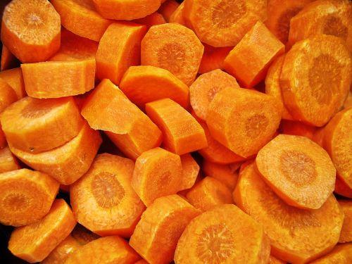 carrot cut daucus carota