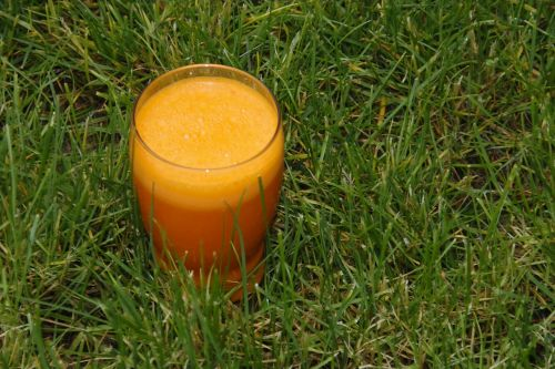 carrot juice glass cup