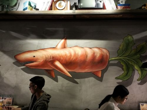 carrots painting shark