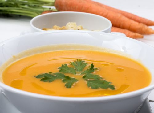 carrots soup fresh soup food