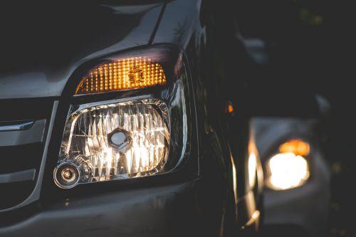 cars close-up headlights