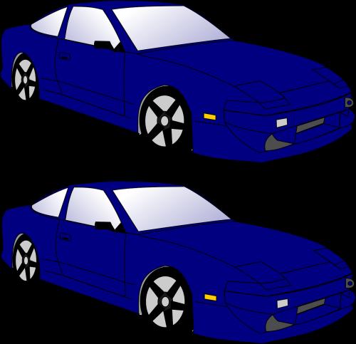 automobiliai,greitai,elegantiškas,lenktynių bragėjai,du,nemokama vektorinė grafika