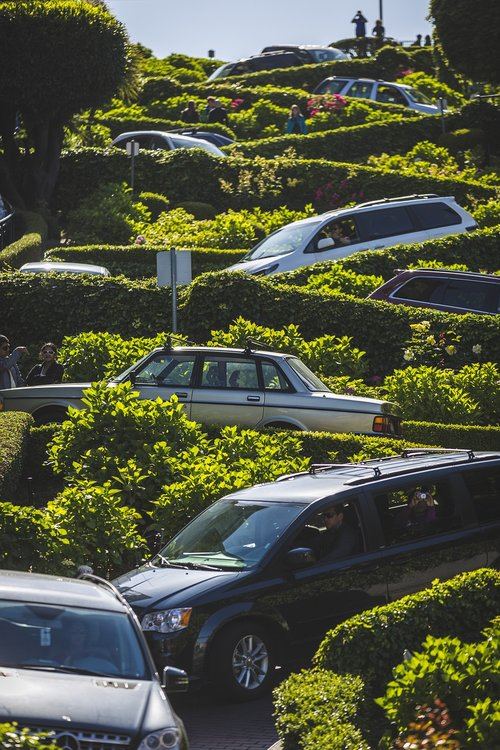 cars  san francisco  zigzag