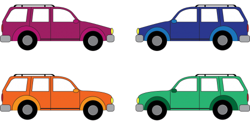cars colorful vehicles