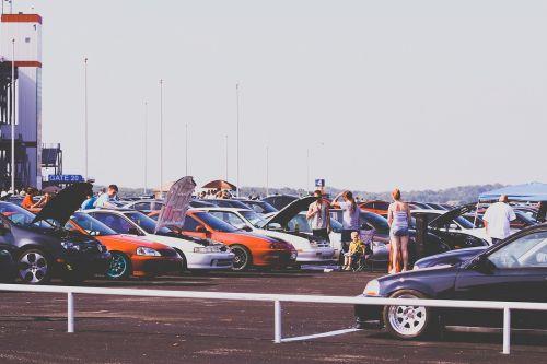 cars car show parking lot