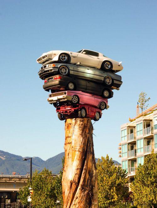cars tower art