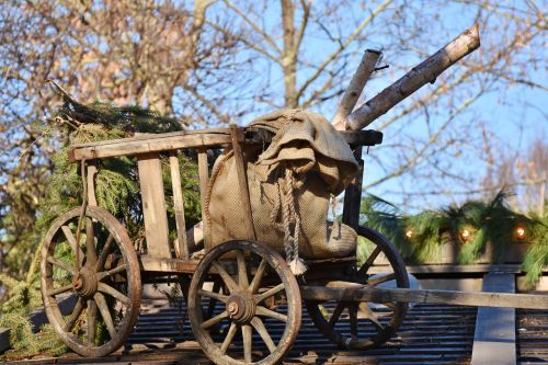 cart wood antique