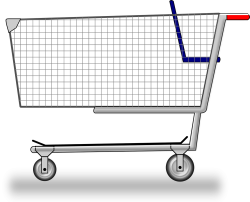 cart groceries shopping