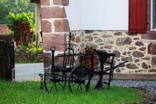 cart oxen garden
