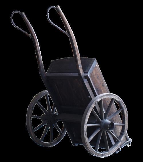 cart hand cart wood