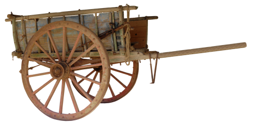 cart wooden barrow handcart