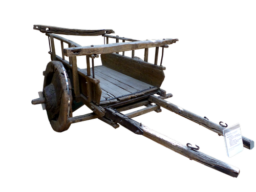cart  antique  wood