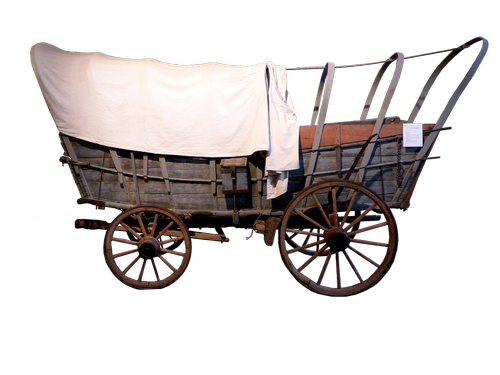 cart  western  wood