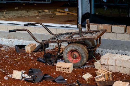 cart bricks handcart
