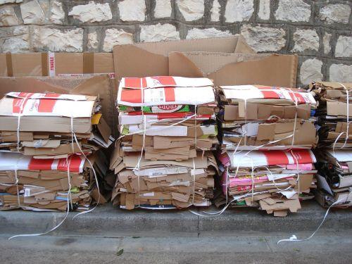 cartons recycling wall