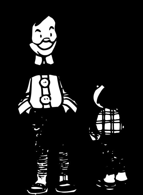 cartoon man boy