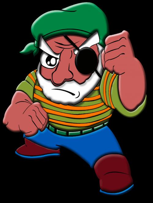 cartoon comic characters eye patch