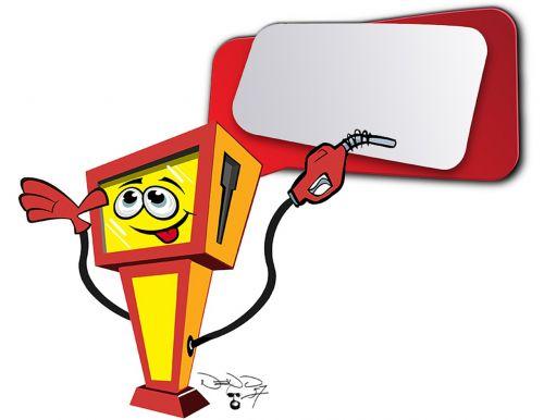 cartoon petrol gas pump