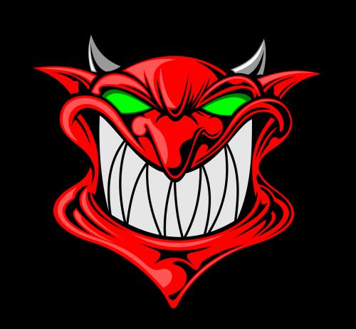 cartoon demon face