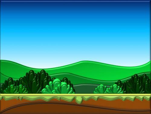 cartoon background landscape nature