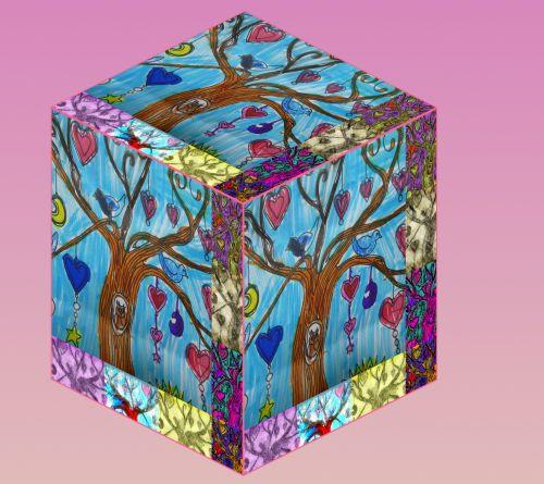 Cartoon Image Cube