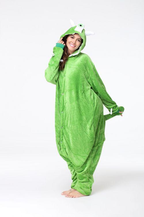cartoon pajamas onesies green