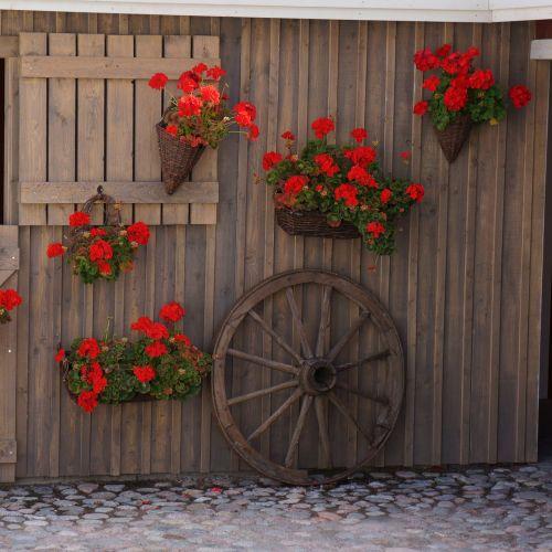 cartwheel wall decoration floral arrangements