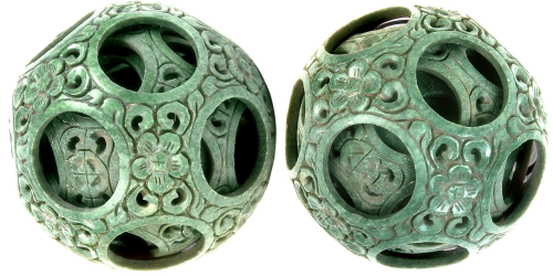 carved ball east miniature