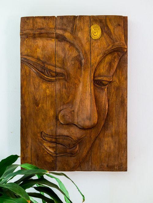 carving wood picture portrait