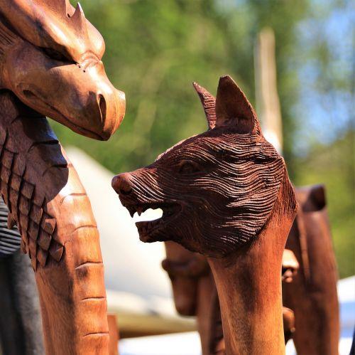 carving wood figure