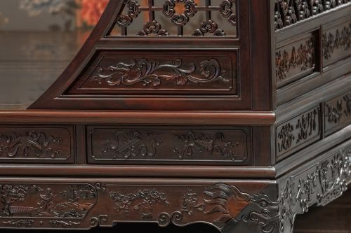 carving rosewood long beds chongqing