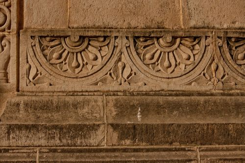 carvings stone wall