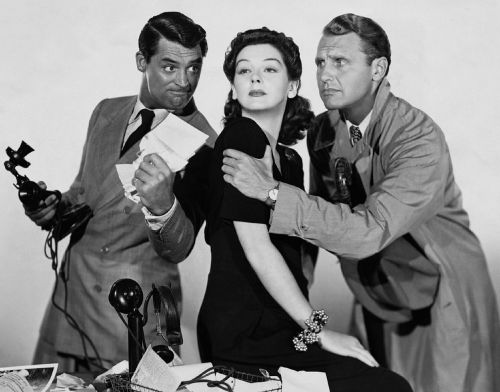 cary grant rosalind russell ralph bellamy