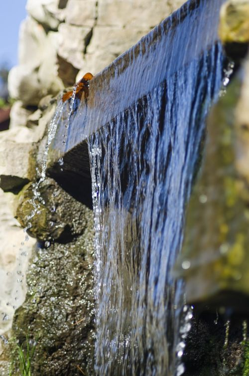 cascade water waterfall