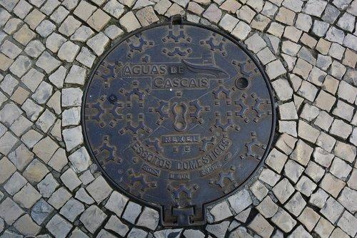 cascais  portugal  manhole cover