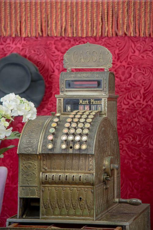 cash machines checkout retro