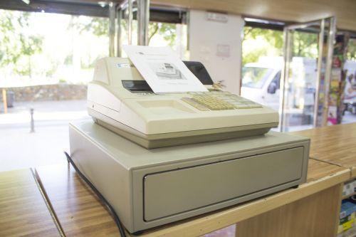 cash register machine old