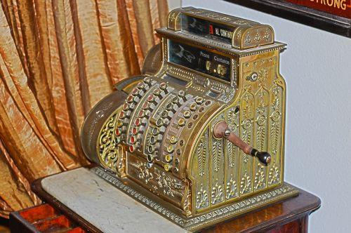 cash register box register old
