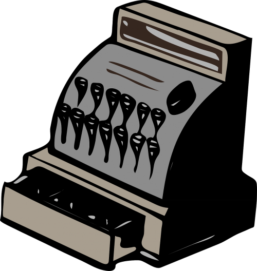 cash register register retro