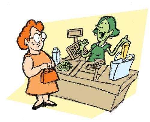 cashier groceries supermarket