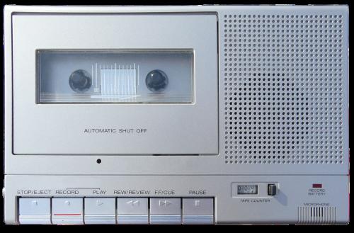 cassette recorder cassette player vintage