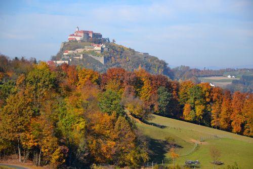 castle autumn forest