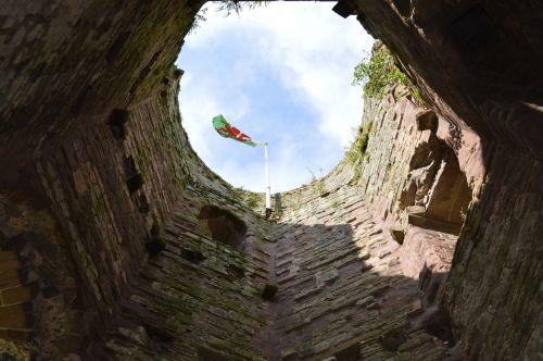 castle wales flag