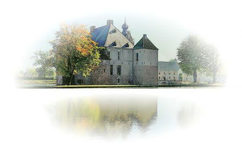 castle autumn mirror