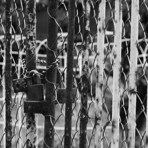 castle rusty locked gate gate