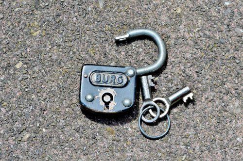 castle padlock key