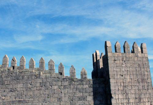 castle pinnacle wall
