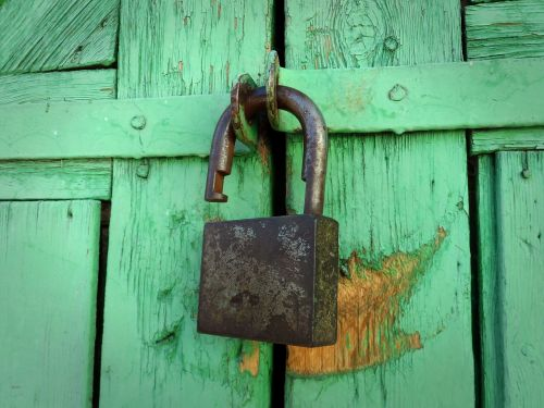 castle open lock padlock