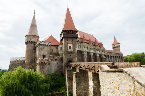 castle medieval forest
