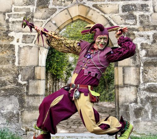 castle middle ages jester